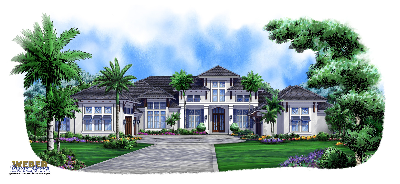 Caribbean breeze british west indies house plan weber for Caribbean house plans