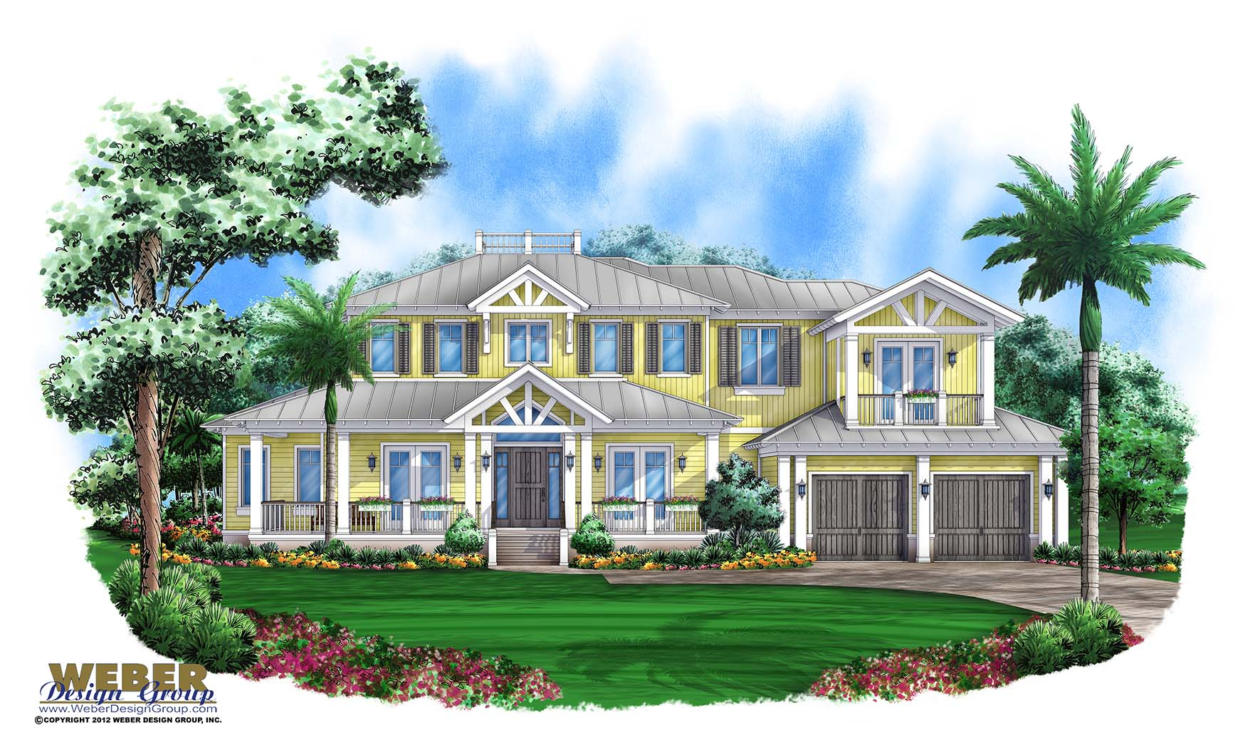Olde florida house plan arbordale house plan weber for Florida cottage plans