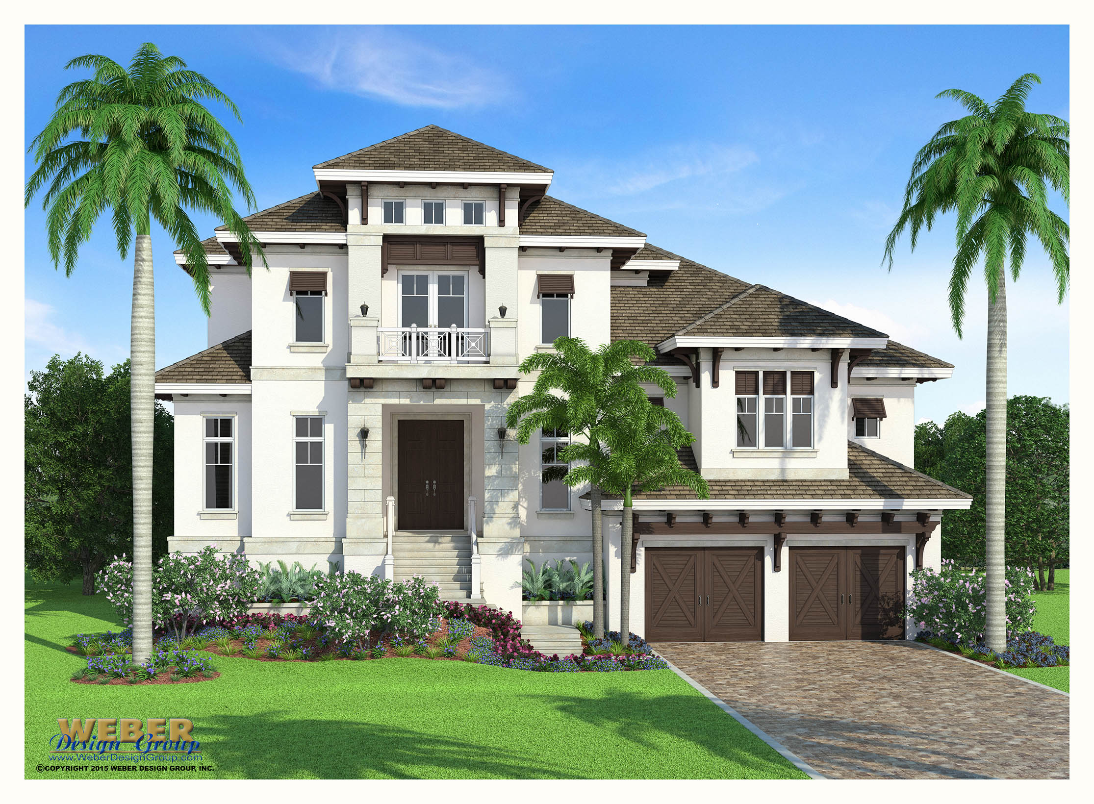 West indies architecture san souci home plan weber design group - Design homes wi ...