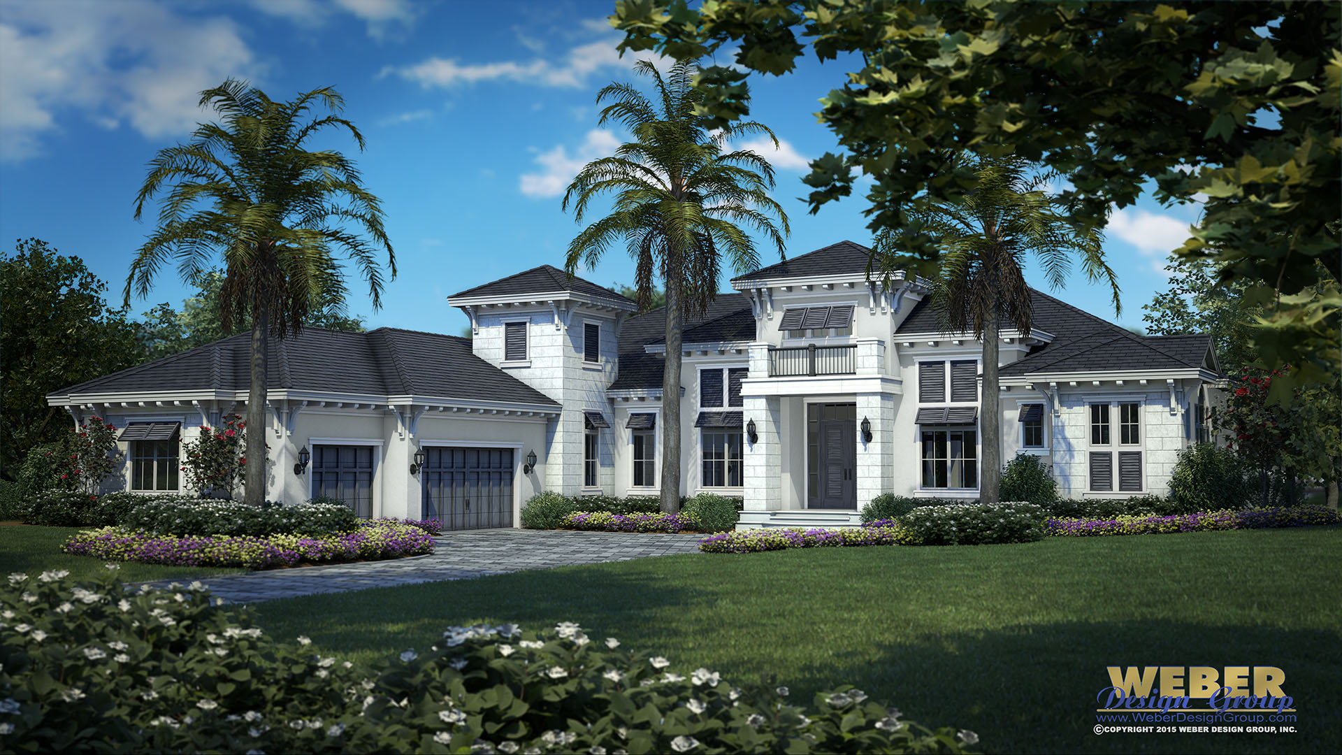 West indies home plan oyster bay model weber design group for Weber design