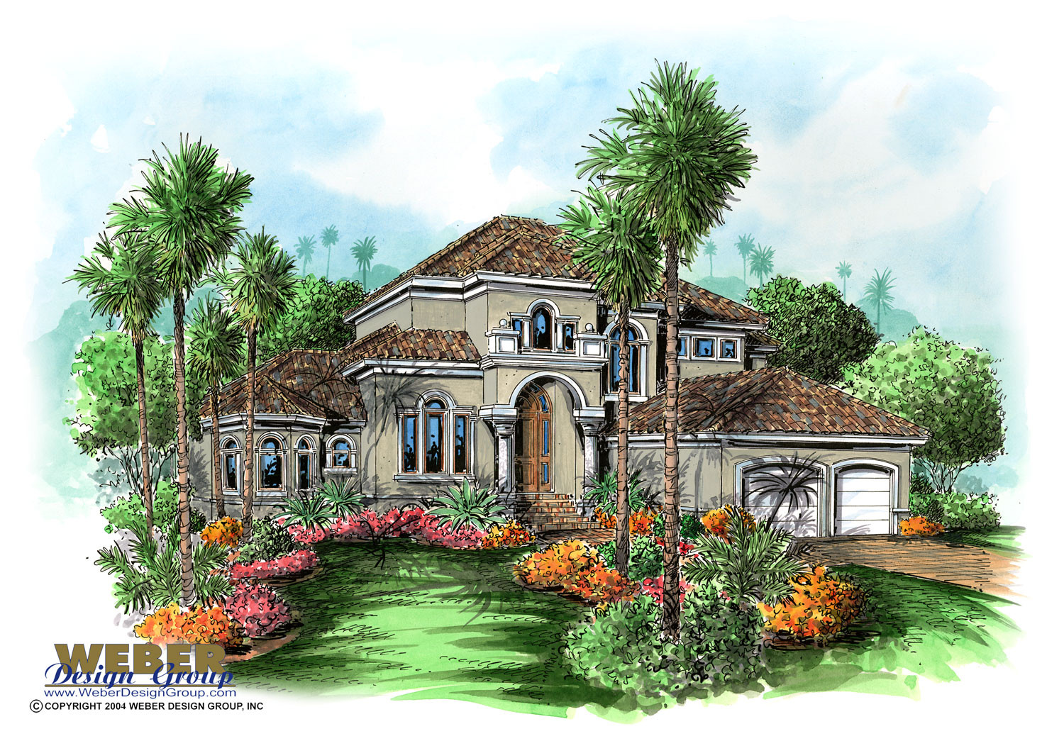 Mediterranean home design savona house plan weber for Weber house plans