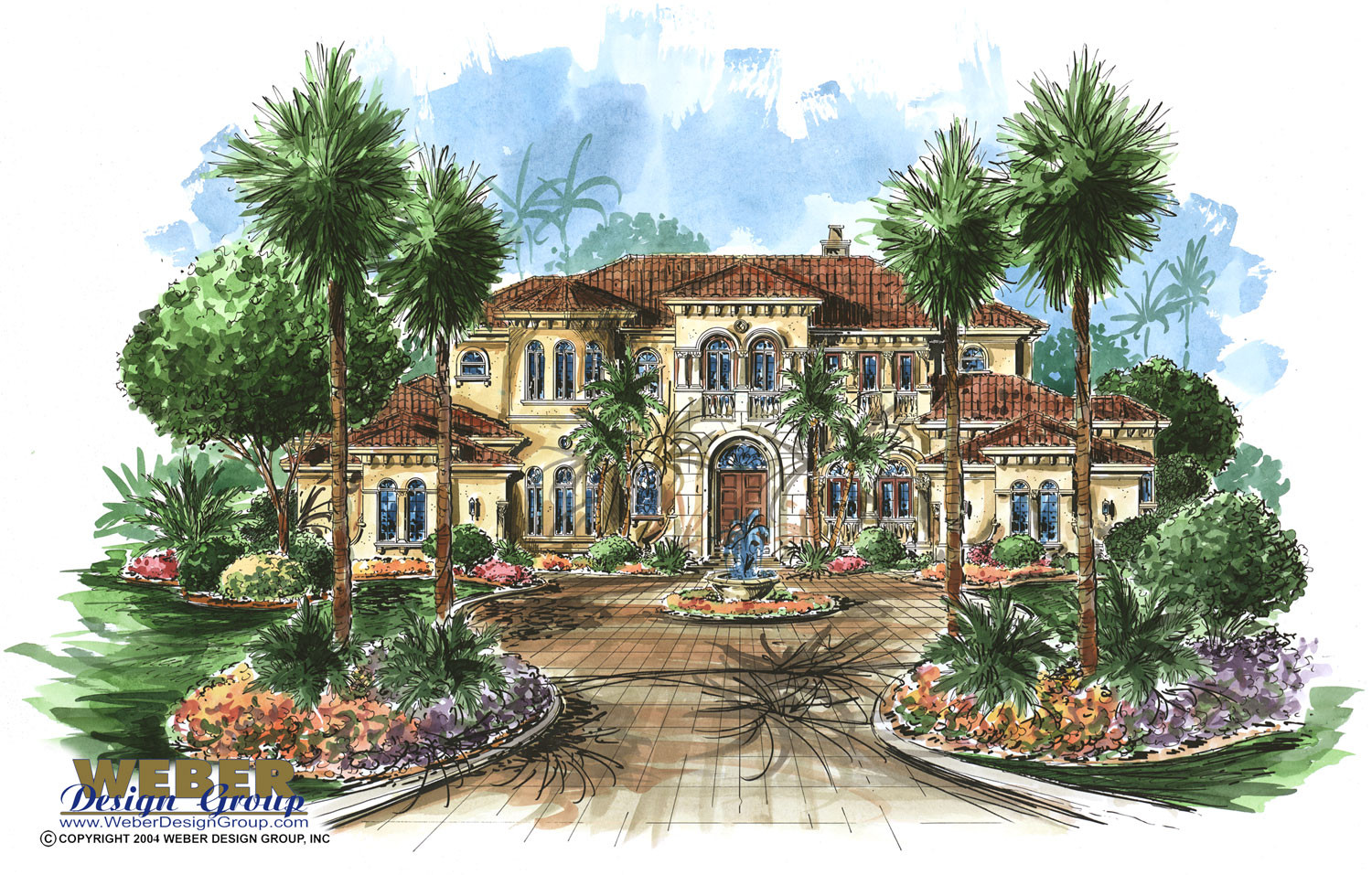Tuscan home plan tuscany home plan weber design group for Tuscan house plans