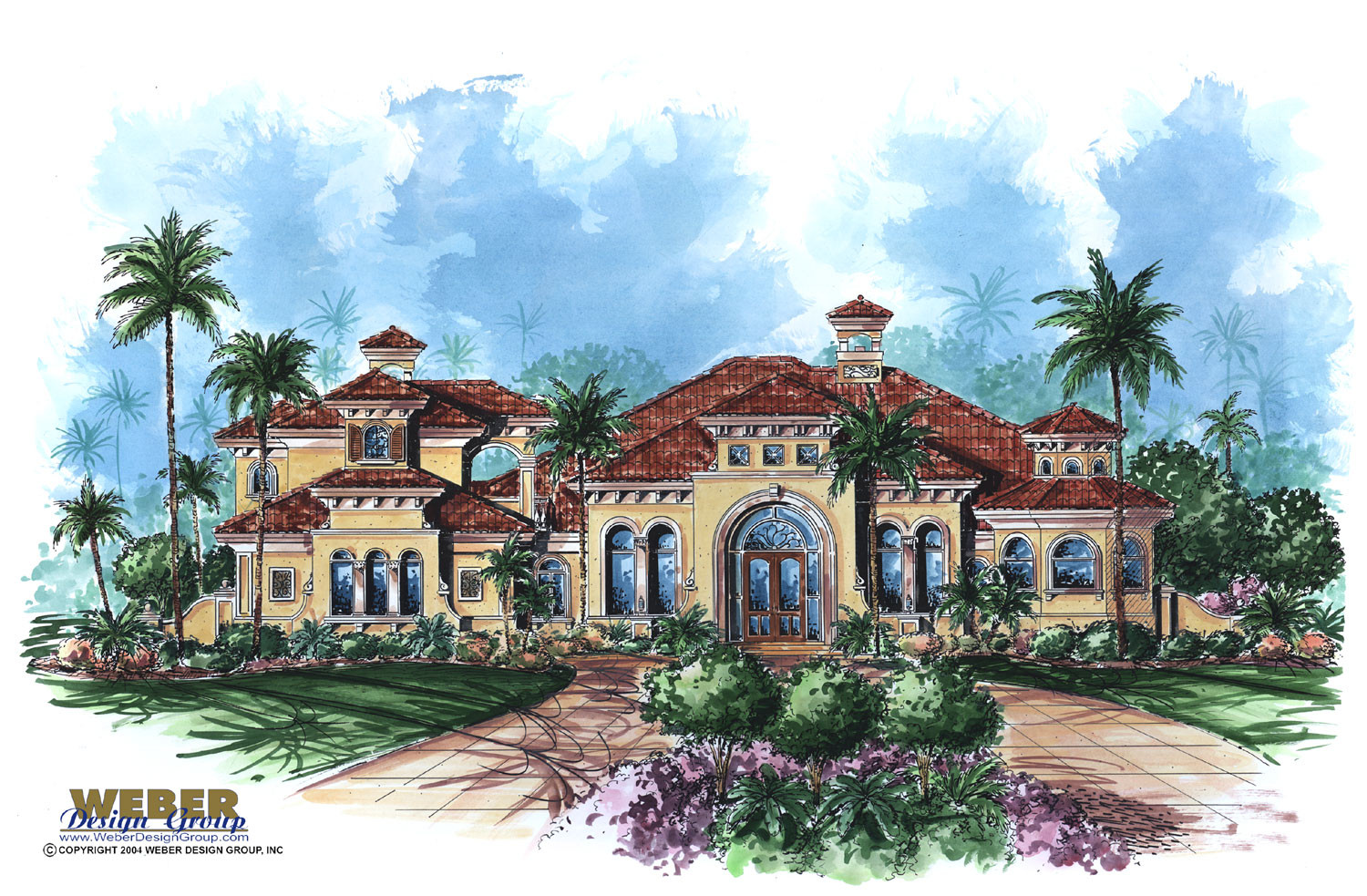 Mediterranean house plan mandalay bay house plan weber for Mediterranean elevation