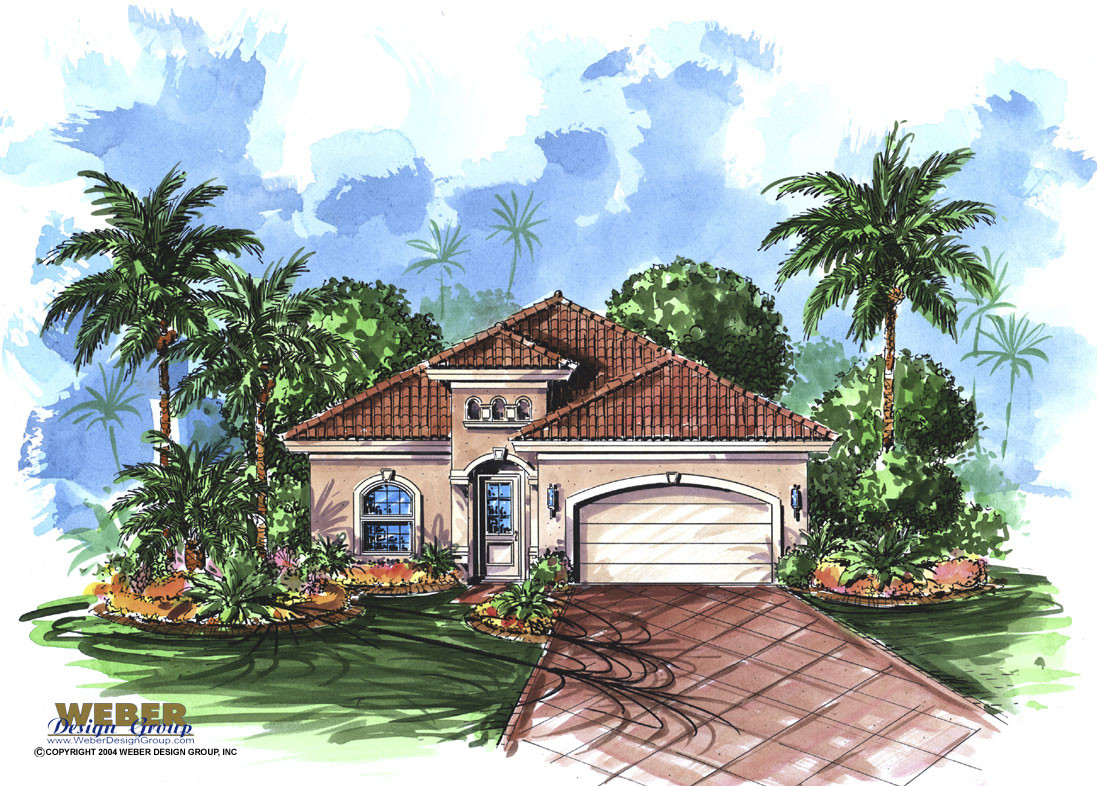 Mediterranean house plan trinidad house plan weber for Trini homes