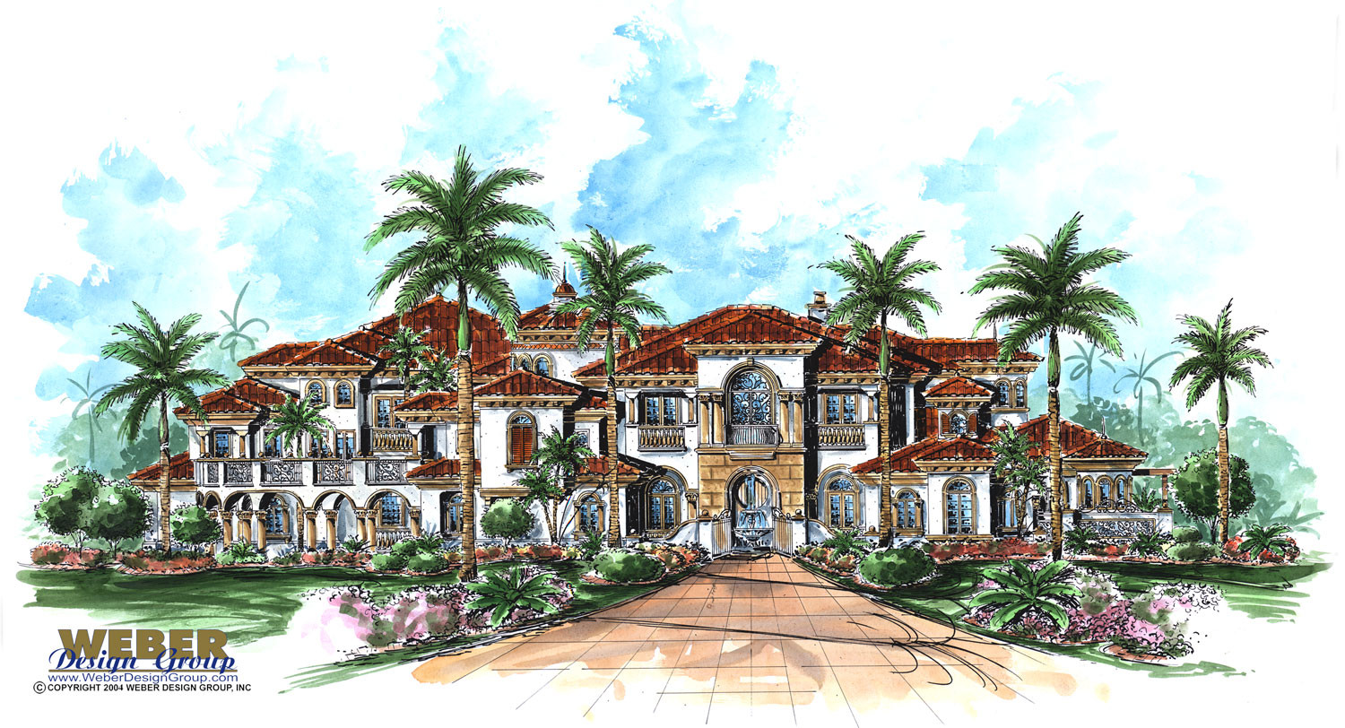 Mediterranean House Plan Bellagio House Plan Weber