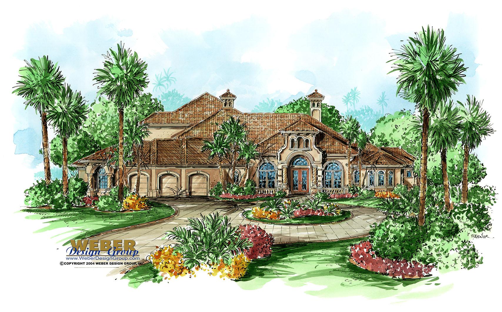 Mediterranean House Plan Trapani House Plan Weber