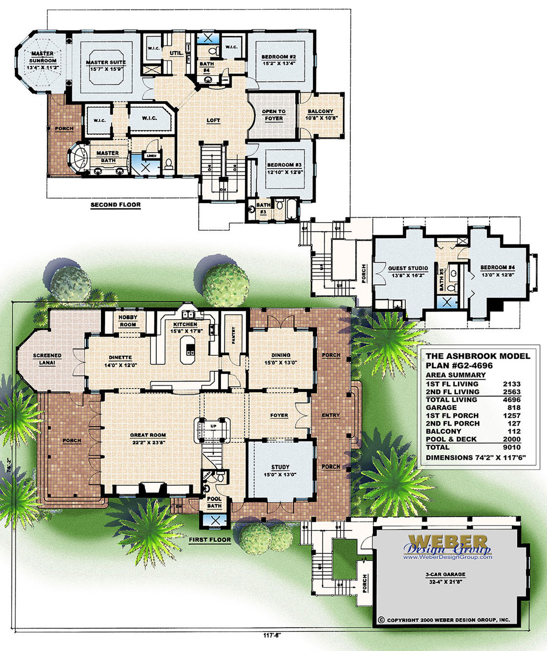 Florida House Plans: Florida Style Home Floor Plans