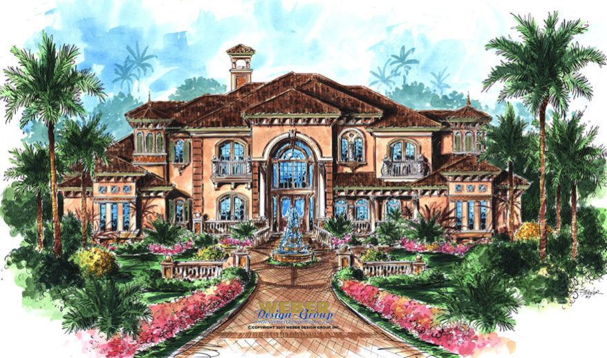 Mediterranean House Plan Luxury Mediterranean Style Home Floor Plan