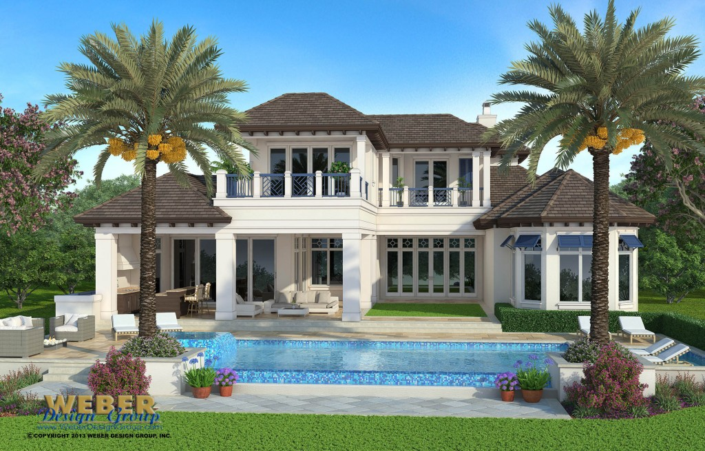 Naples florida architect port royal custom house design for Custom home plans florida