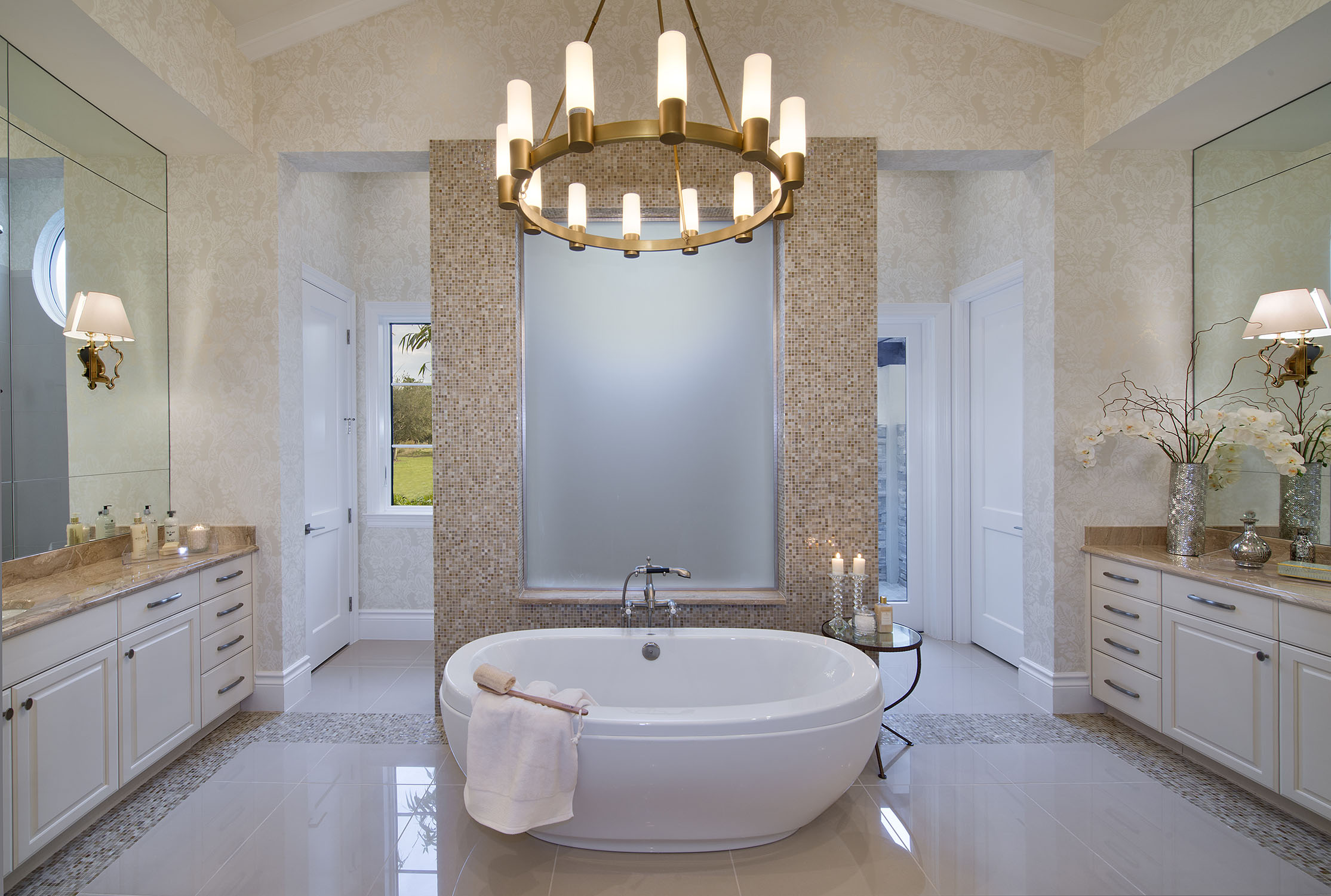 Elegant Master Bathroom Floor Plans With Walk Through Shower
