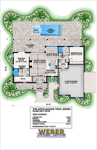 Colored brochure floor plan presentation