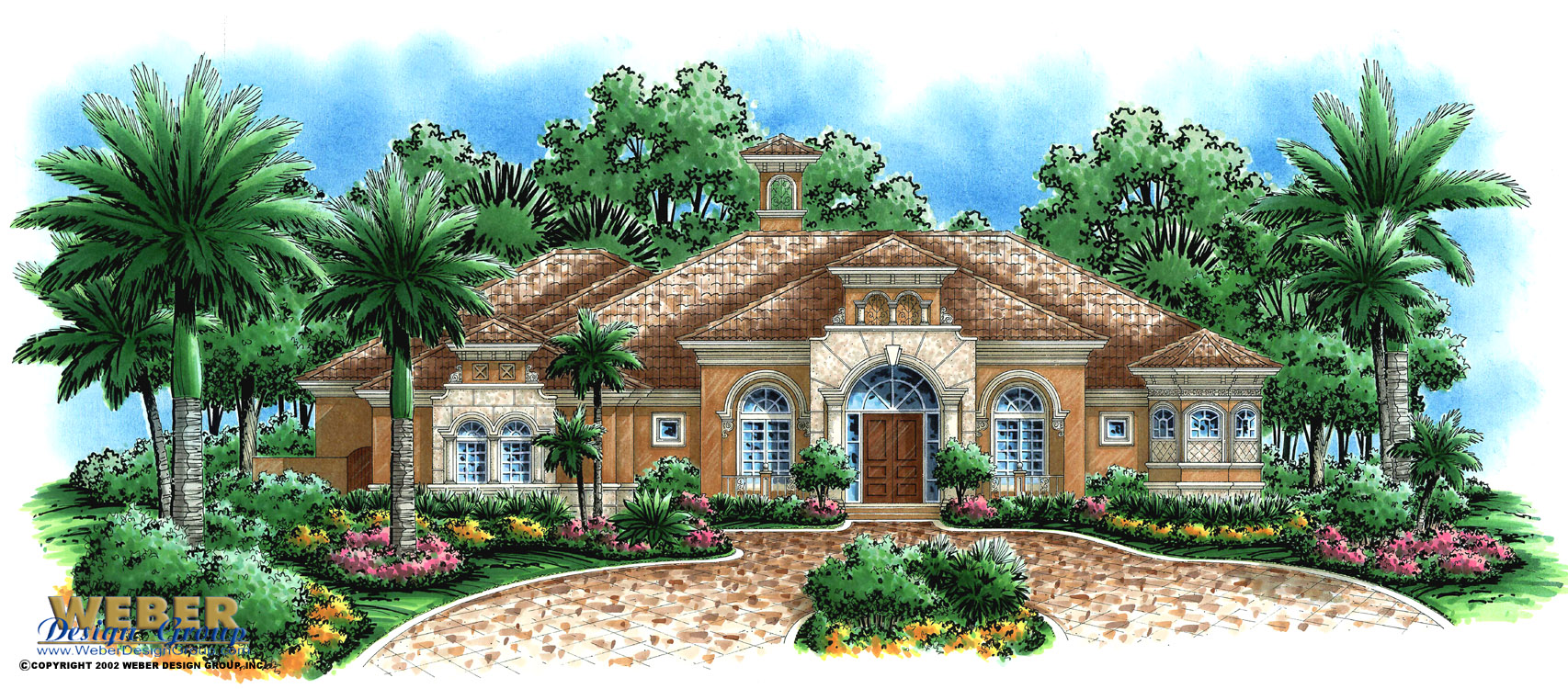 Mediterranean house plan waterfront golf course home for Mediterranean mansion floor plans