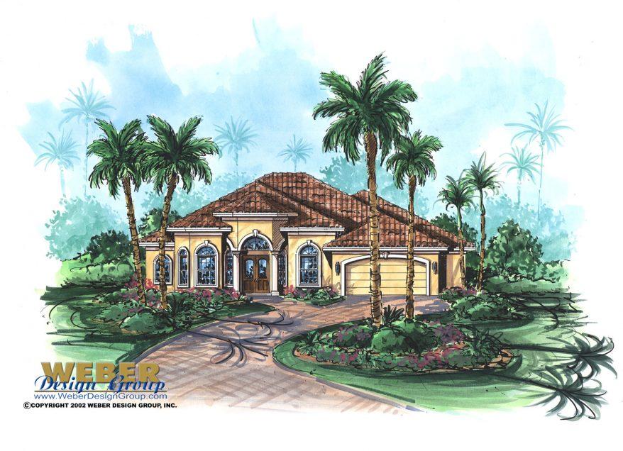 Mediterranean house plan 1 story home floor plan with pool for 1 story mediterranean house plans