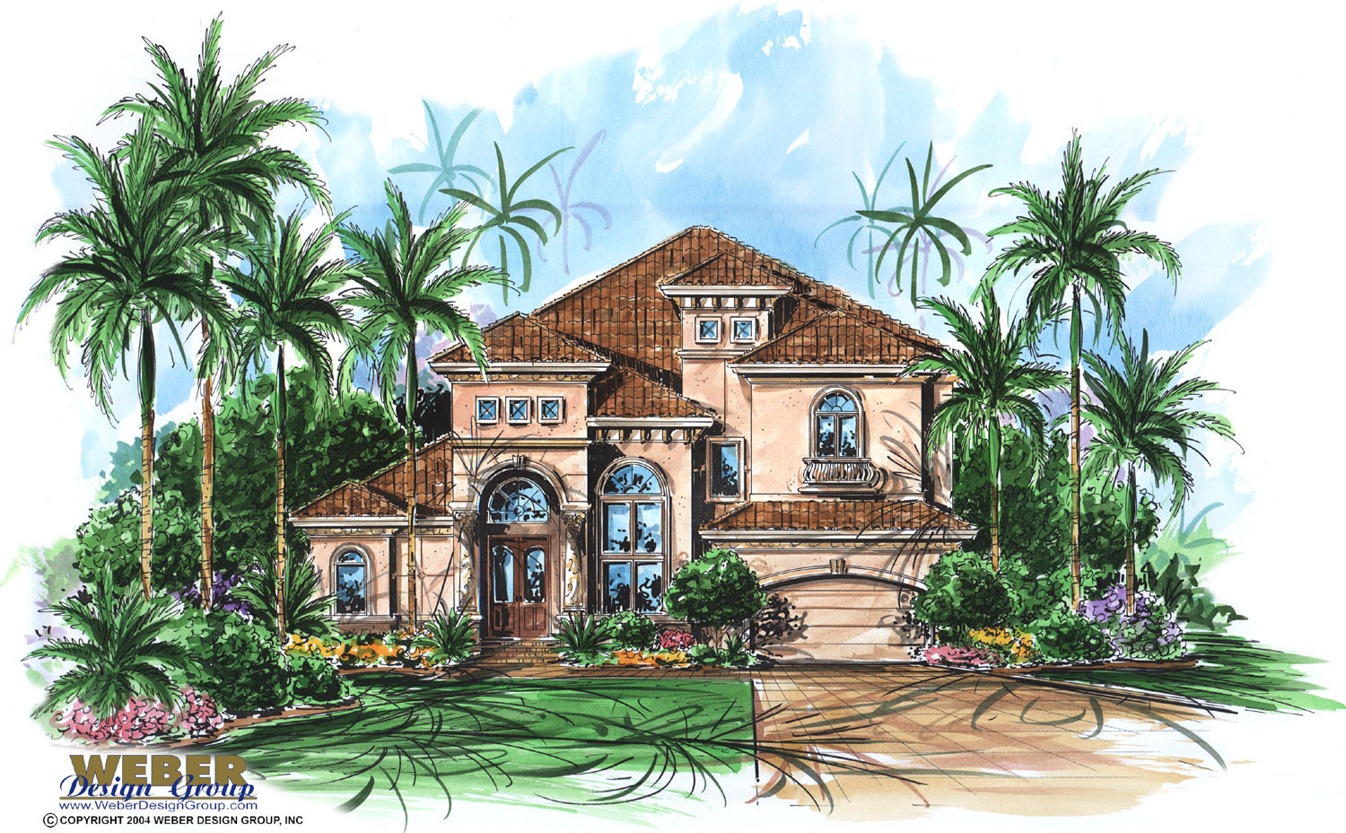 Mediterranean House Plan Narrow Lot Waterfront Home Floor Plan