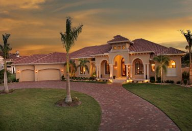 Mediterranean Golf Course Home
