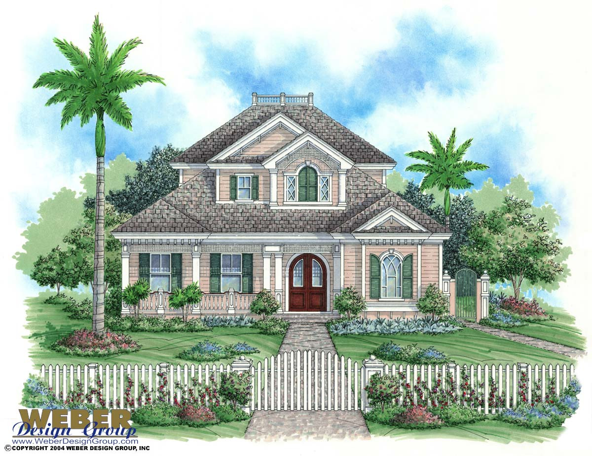 Key west house plan weber design group naples fl for Elevated key west style house plans