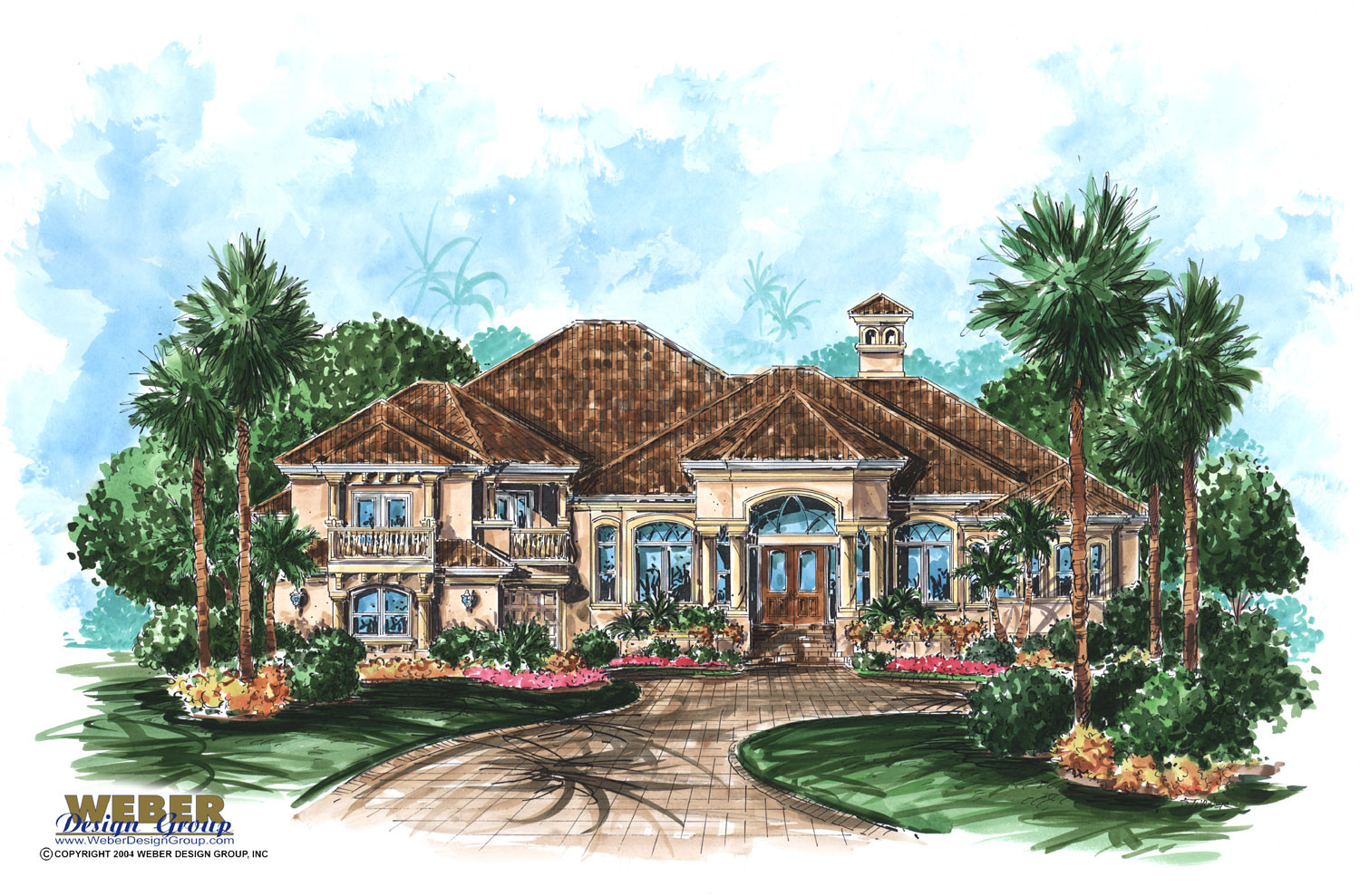 Mediterranean House Plans blueprint quickview front ep Antigua House Plan