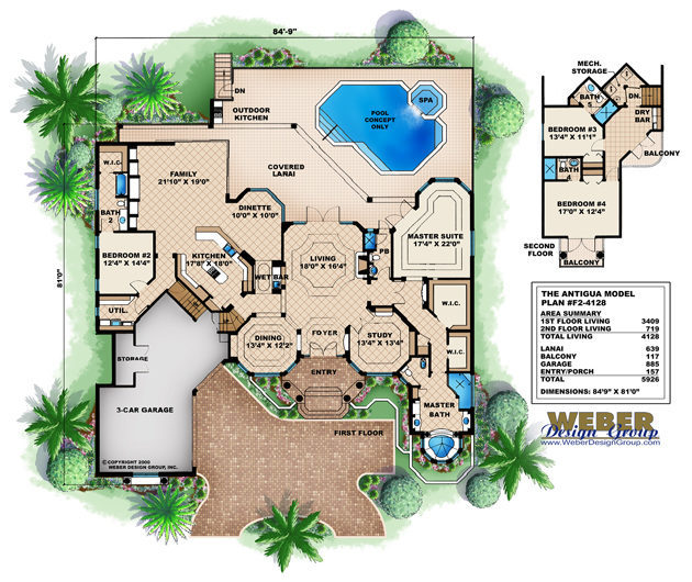 house plans with pools, modern home with swimming pool (see photos)