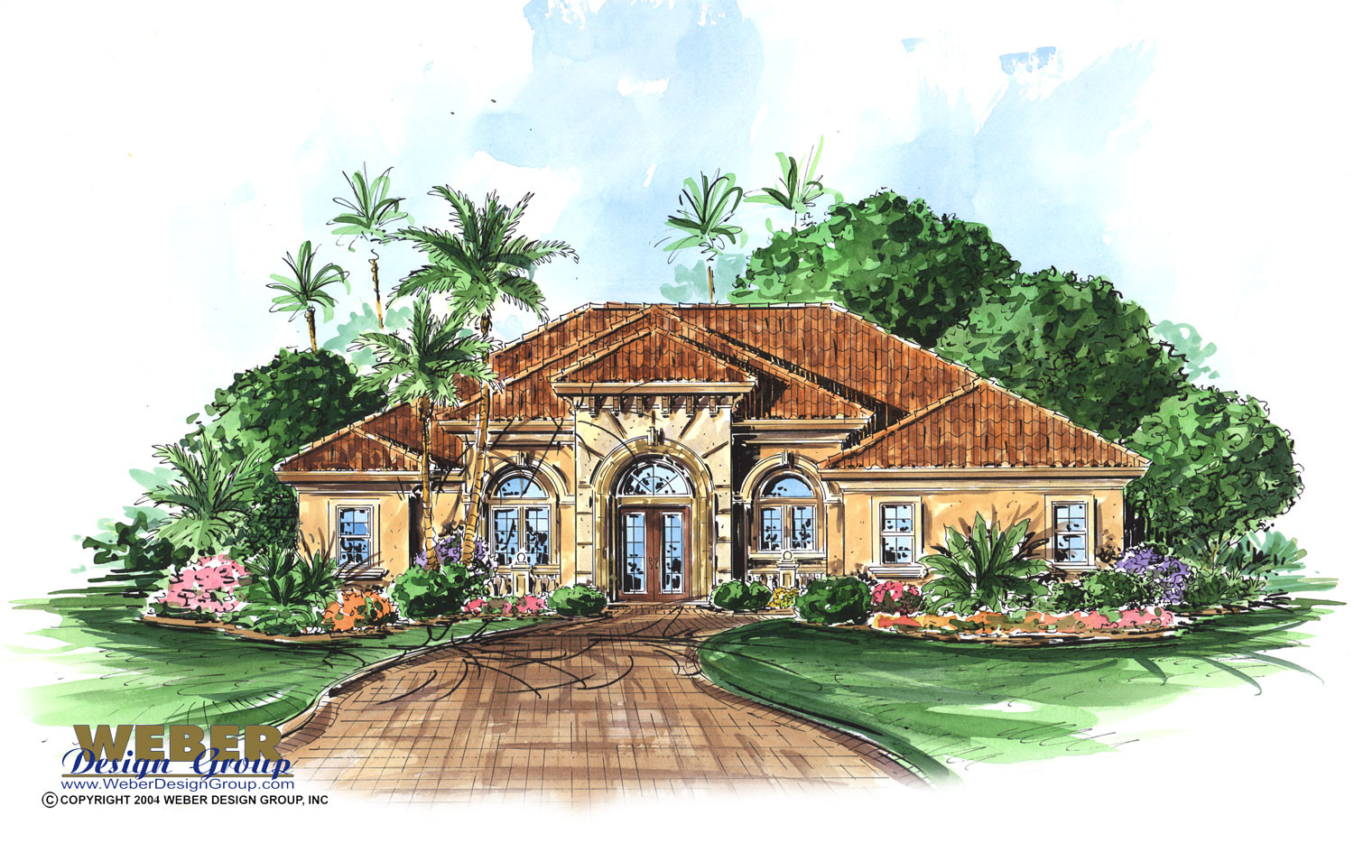 verandah home plan 3 bed bath island kitchen great room pool