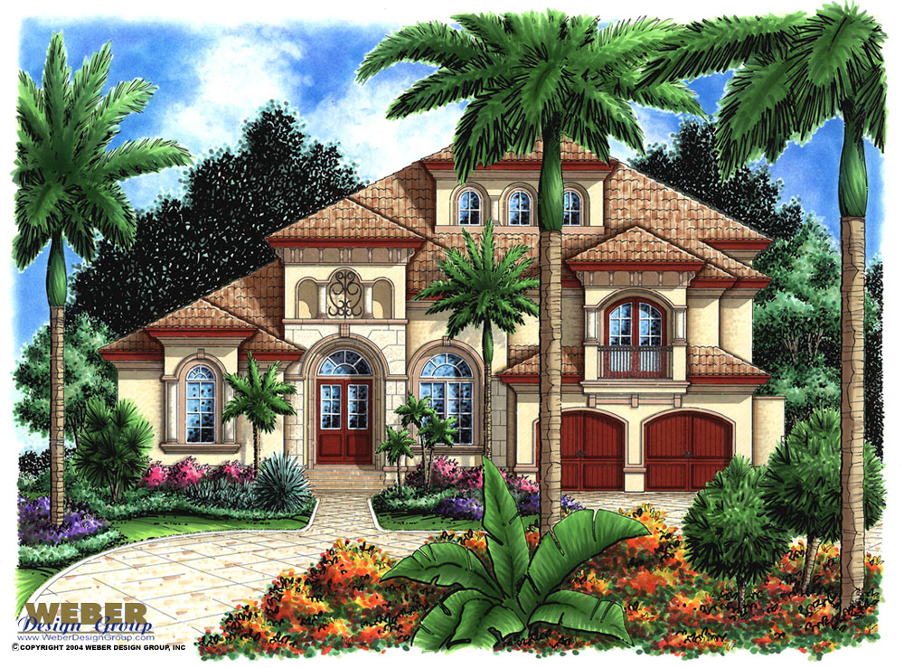 Morocco house plan weber design group naples fl for Moroccan house design