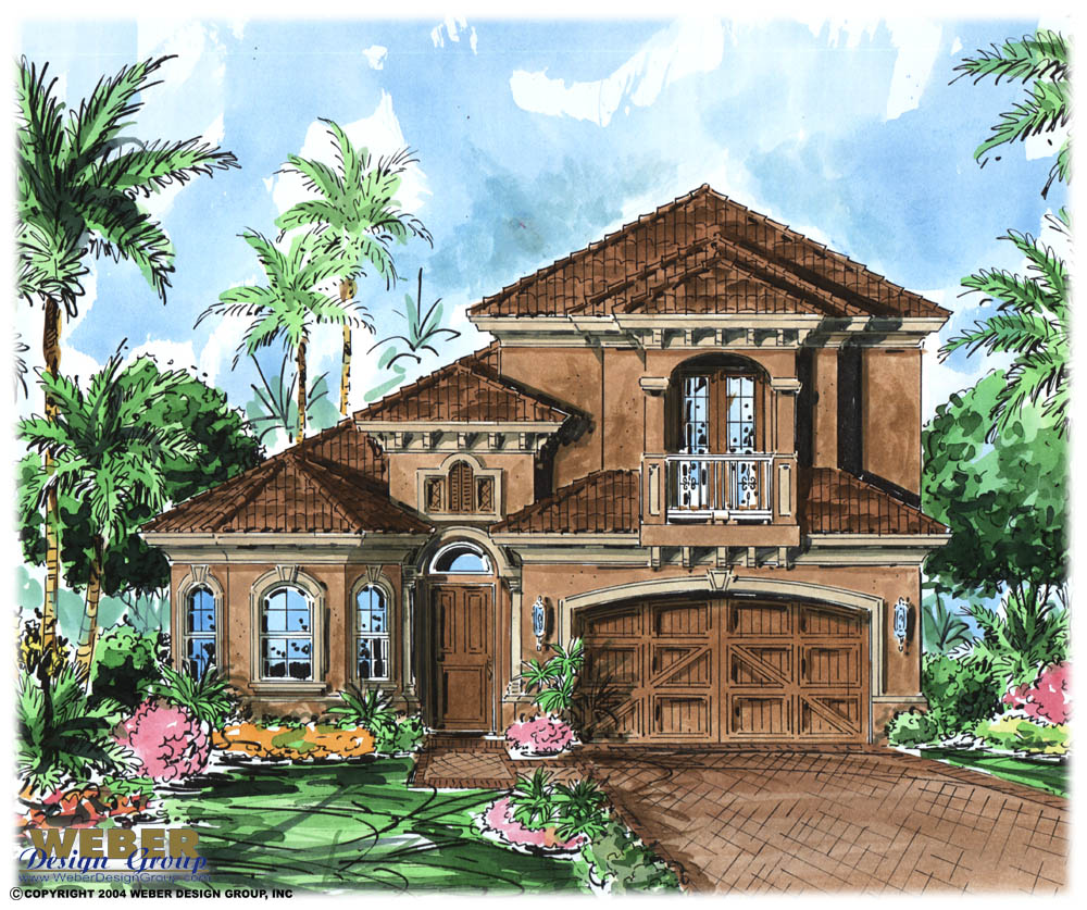 Mediterranean house plan 2 story tuscan style home floor plan for Mediterranean home plans