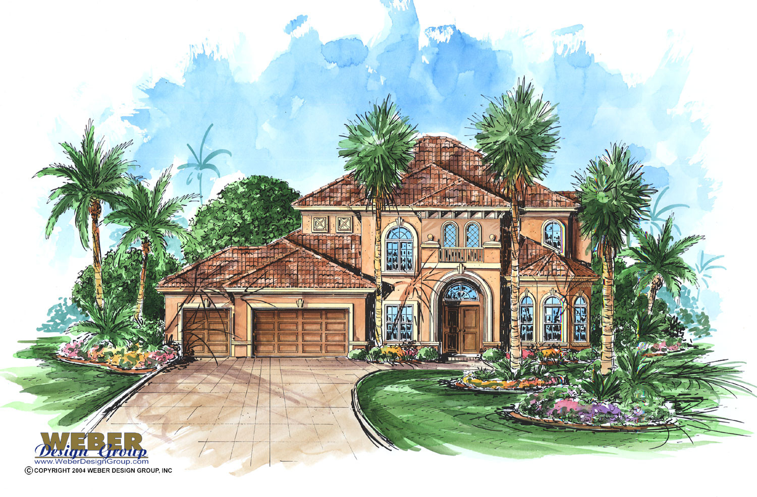 Mediterranean house plan tuscan waterfront golf course for Golf course house plans
