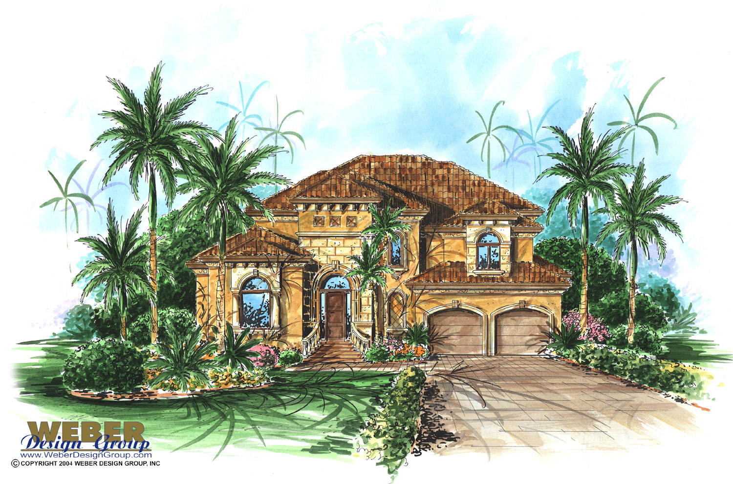 Mediterranean house plan 2 story narrow lot home floor plan for 2 story mediterranean house plans