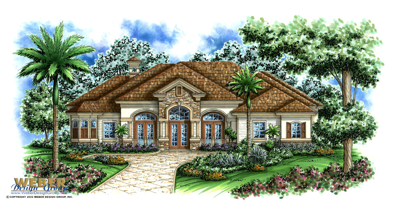 Sterling oaks ii house plan weber design group naples fl for Weber house plans