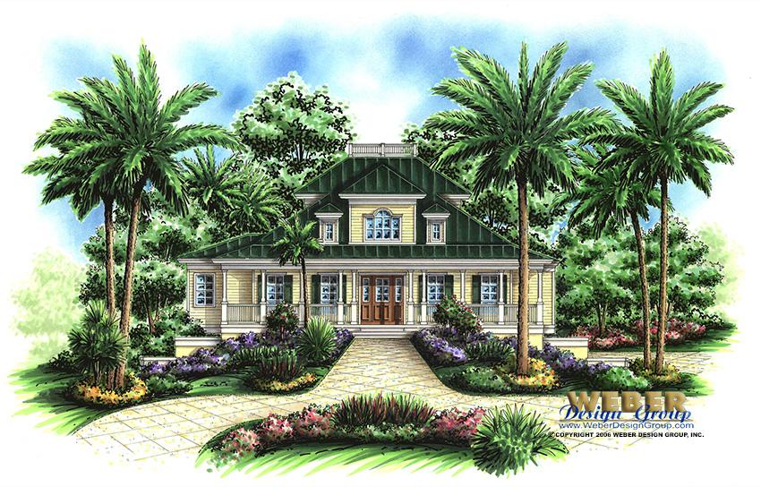 walkers cay home plan - weber design group; naples, fl.
