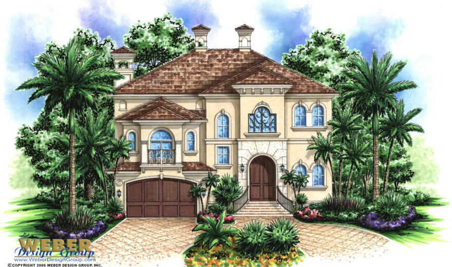 Saint Tropez House Plan Weber Design Group Naples Fl