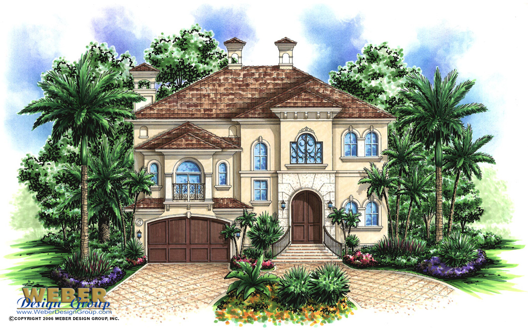 Saint tropez house plan weber design group naples fl for Weber design