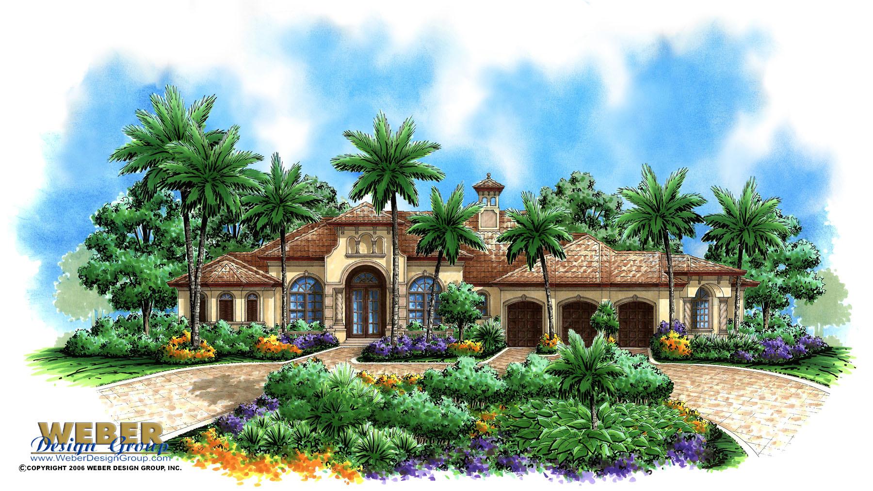 Mediterra house plan weber design group naples fl for Weber design