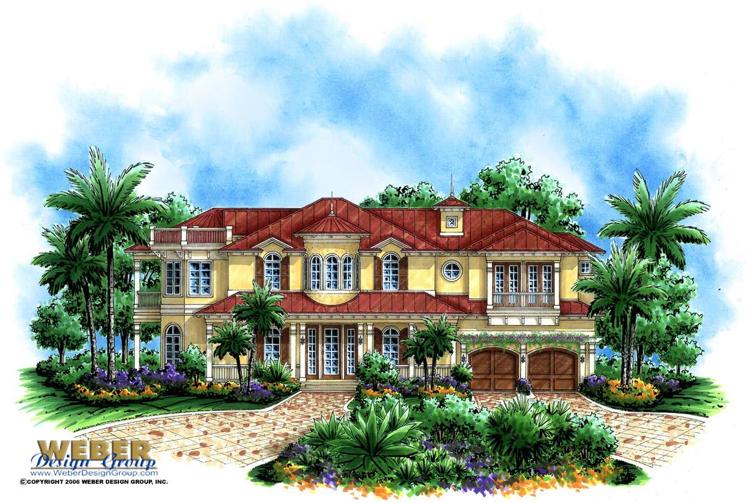 Island Breeze Home Plan Weber Design Group Naples FL
