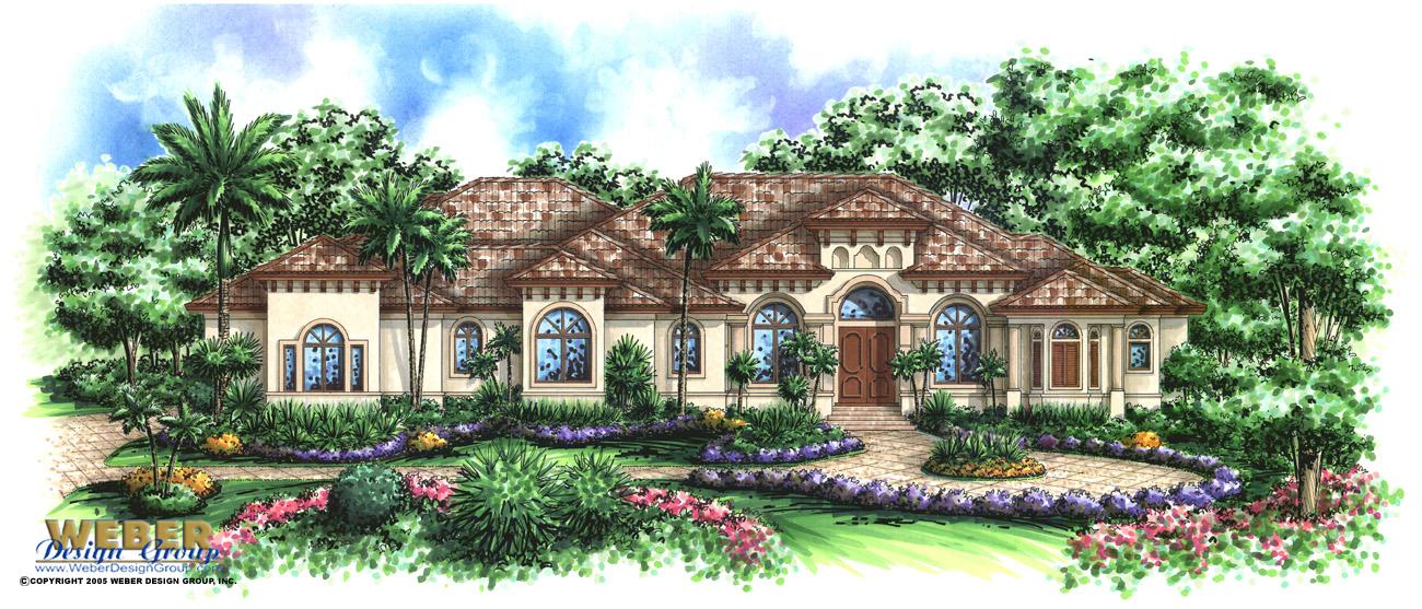 royal marco home plan - weber design group; naples, fl.