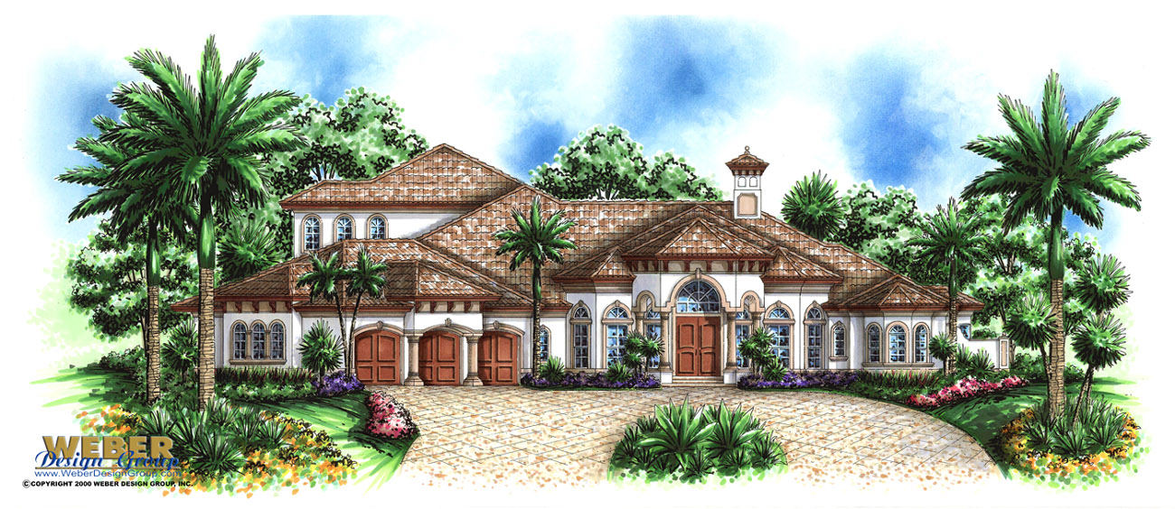 Provence house plan weber design group for Weber design group