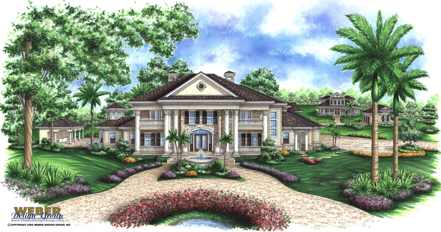 Plantation style house plans gunnison mill plantation home Design house inc