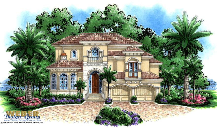Runaway bay house plan weber design group naples fl for Weber design group