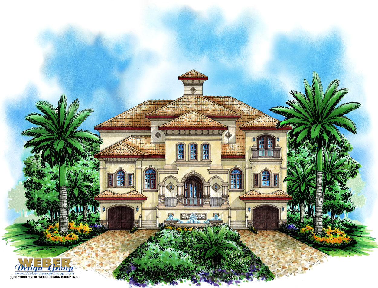 Beach house plan coastal design 3 story waterfront home for Casa bella homes