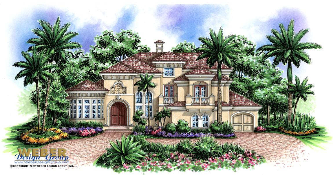La playa iii house plan weber design group naples fl for Weber design group