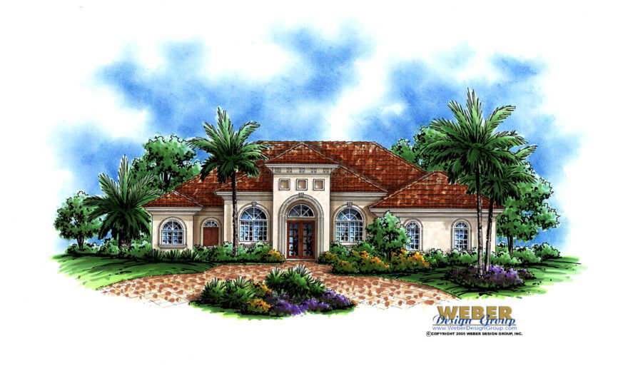 Santa Barbara Home Plan Weber Design Group Naples Fl