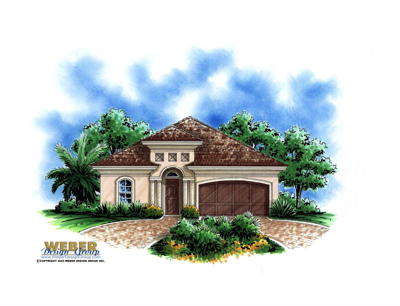 Morro bay home plan weber design group naples fl for Small mediterranean house design