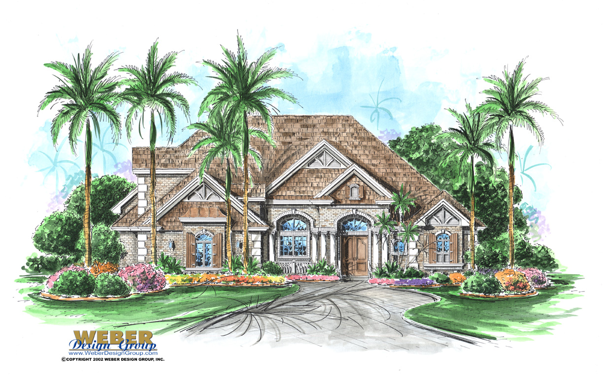 Stonebridge House Plan - Weber Design Group; Naples, FL.