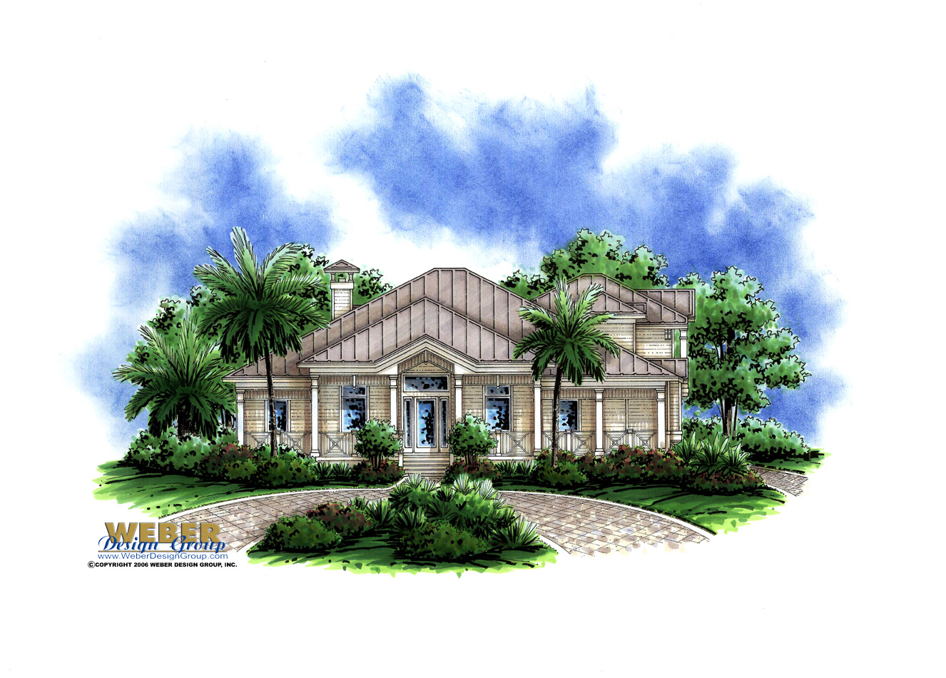 Calypso cove home plan weber design group for Weber design