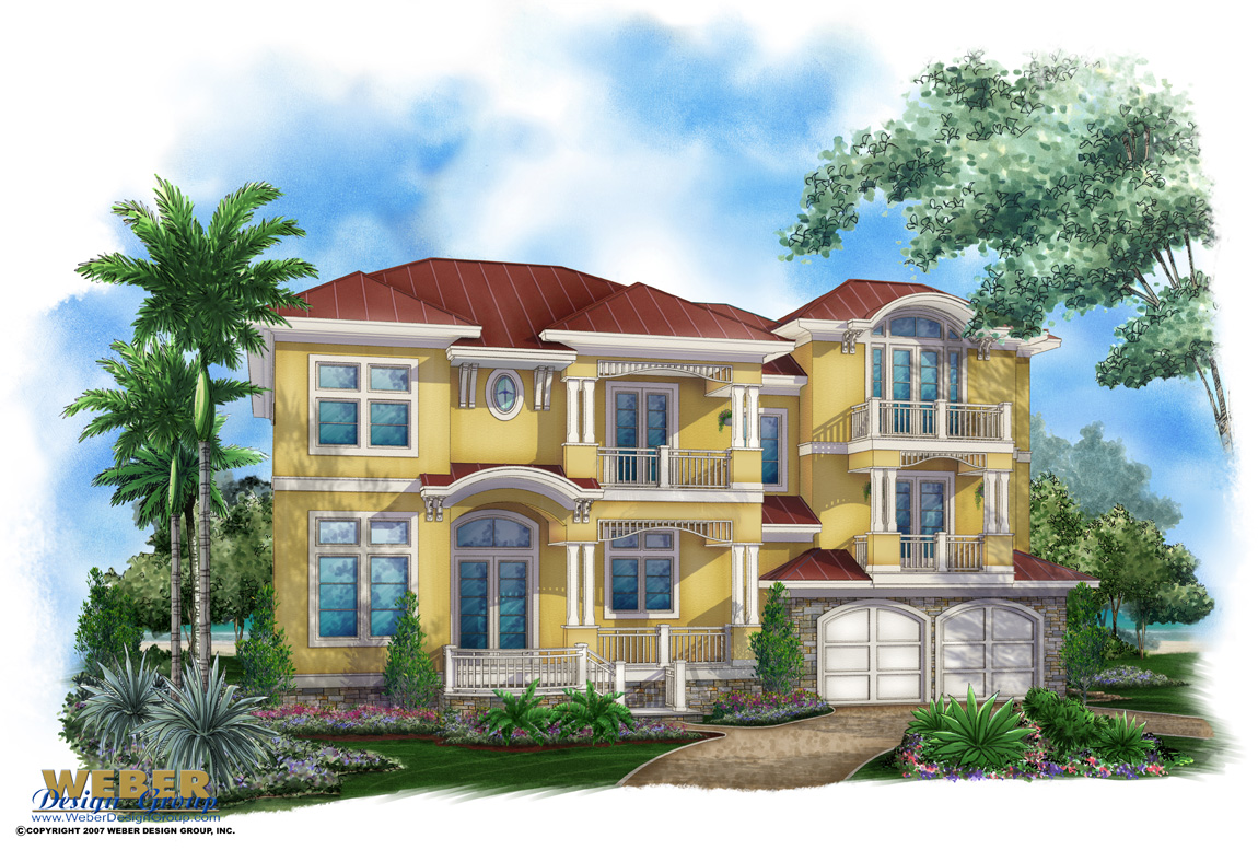 By The  C House Plan Caribbean Plans Stock Tropical Island Style Home Floor