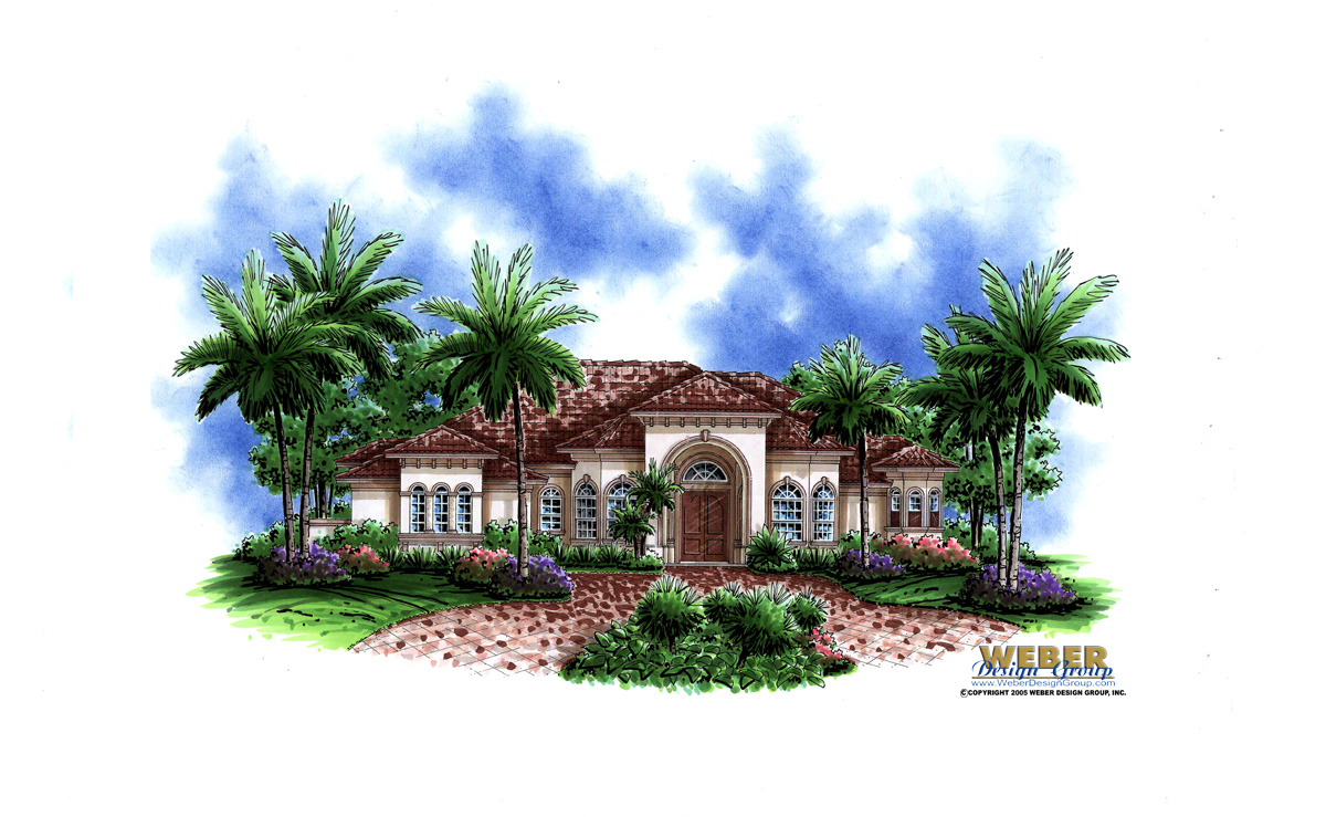 Mediterranean house plan 1 story luxury coastal home for 3000 sq ft mediterranean house plans