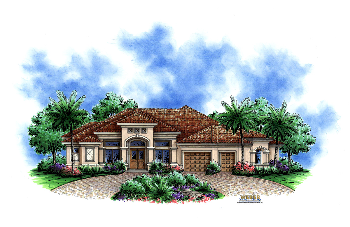 Kensington place house plan weber design group naples fl for Weber house plans