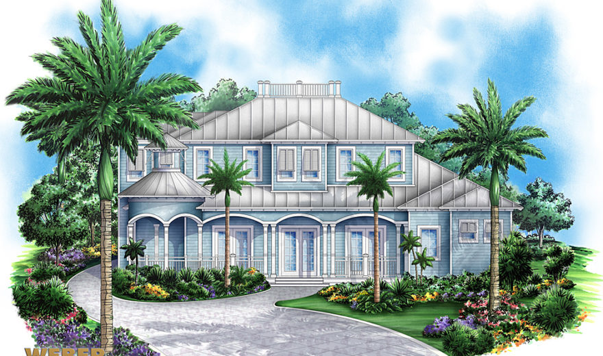 Sunset cove house plan weber design group naples fl for Sunset house plans