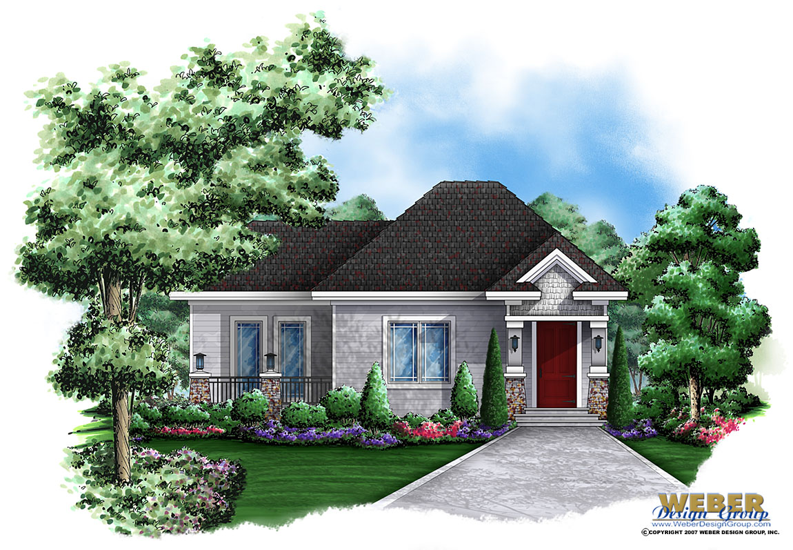 Small House Plan Tiny Cottage Home Or Guest House Plan