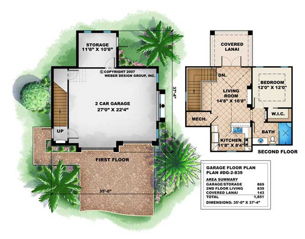 2 Story Garage Floor Plan