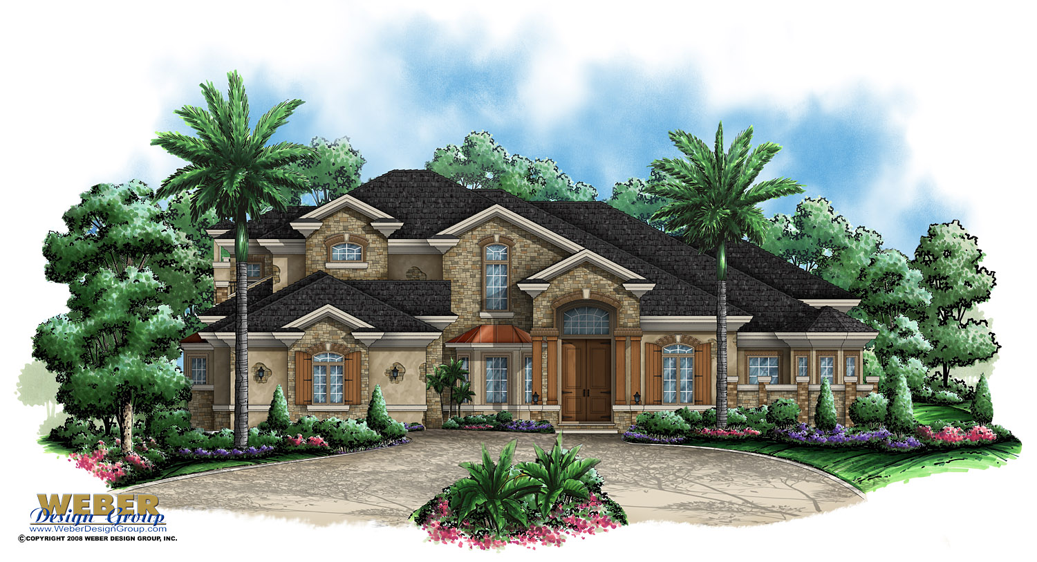 Key west house plan weber design group for Key west style house plans